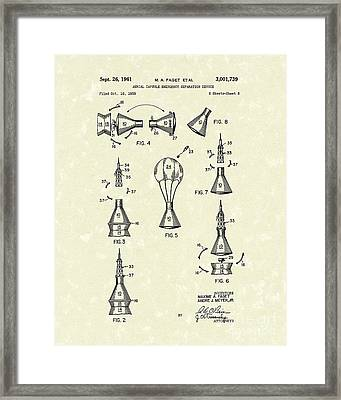 Space Capsule 1961 Patent Art #2 Framed Print by Prior Art Design
