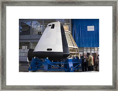 Space Capsule Framed Print by Mark Williamson