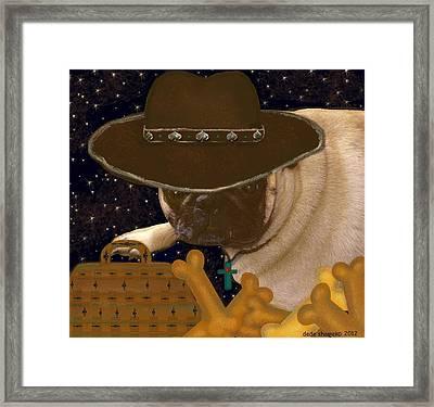 Space Cowboy Framed Print by Dede Shamel Davalos