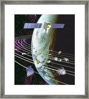Space Debris Framed Print by David Ducros