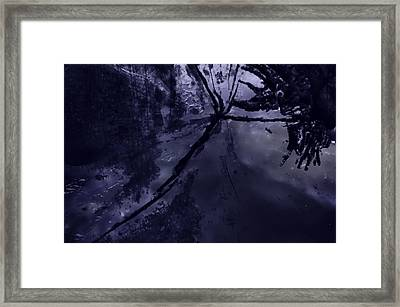 Space Dropping Framed Print