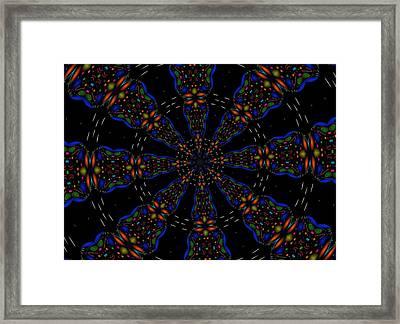 Space Flower Framed Print by Alec Drake
