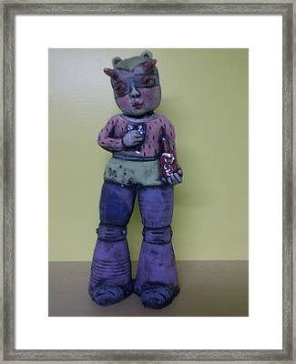 Space Girl With Tincture Bottle Framed Print by Kathleen Raven