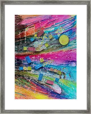 Space Junk Framed Print by David Raderstorf