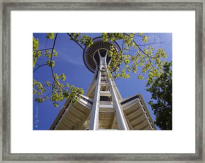 Space Needle Seattle Washington Framed Print by Ty Savell