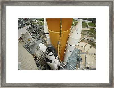 Space Shuttle Atlantis On The Launch Framed Print by Stocktrek Images