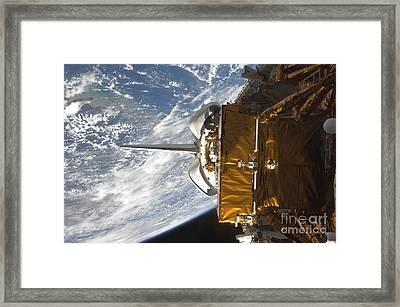 Space Shuttle Atlantis Payload Bay Framed Print by Stocktrek Images