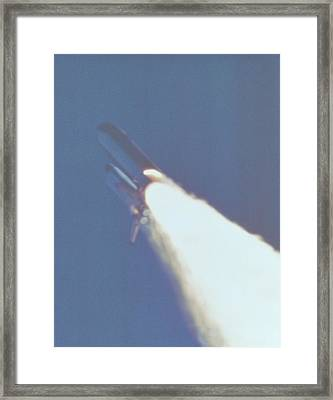 Space Shuttle Challenger Disaster. At Framed Print by Everett