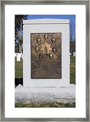 Space Shuttle Challenger Memorial Framed Print by Mark Williamson
