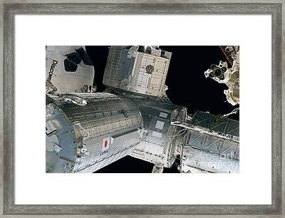 Space Shuttle Discovery And Components Framed Print by Stocktrek Images