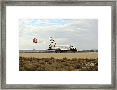 Space Shuttle Discovery Deploys Framed Print by Stocktrek Images