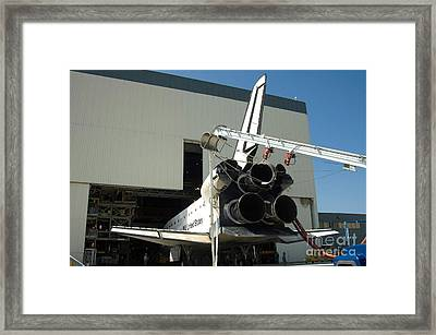 Space Shuttle Discovery Is Towed Framed Print