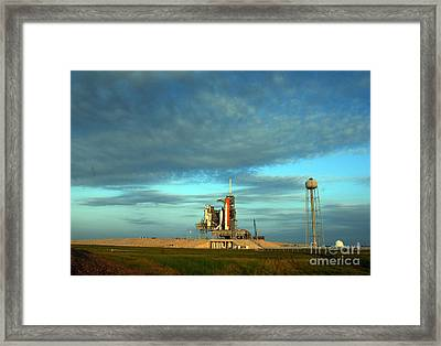 Space Shuttle Endeavor On Launch Pad Framed Print by Nasa