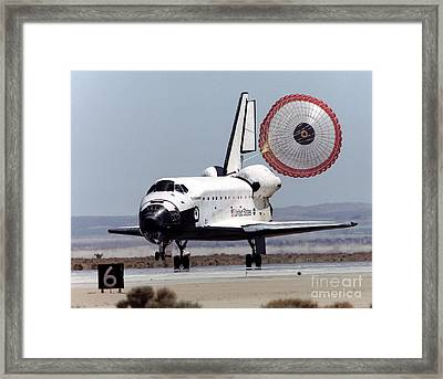 Space Shuttle Endeavor Touchdown Framed Print by NASA / Science Source