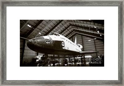Space Shuttle Endeavour Framed Print by Nina Prommer
