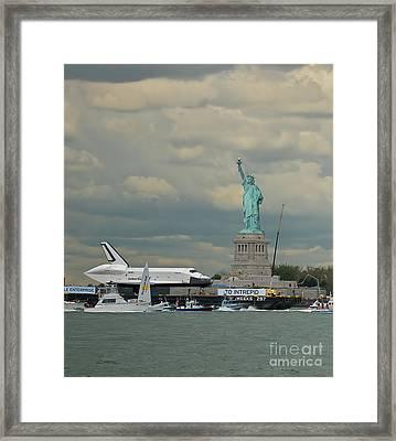 Space Shuttle Enterprise 1 Framed Print by Tom Callan