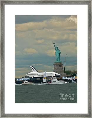 Space Shuttle Enterprise 2 Framed Print by Tom Callan