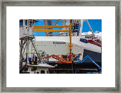 Space Shuttle Enterprise Framed Print by Chris Lord