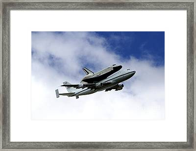 Space Shuttle Enterprise Framed Print by Thanh Tran