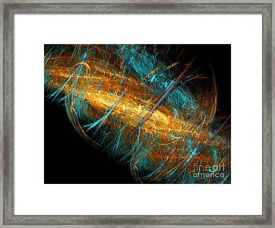 Space Storm Framed Print by Andee Design