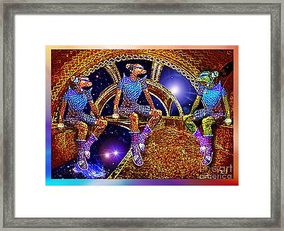 Space Travellers Framed Print