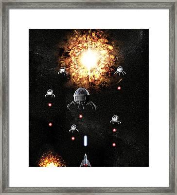 Space War Framed Print