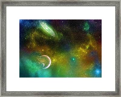 Space001 Framed Print