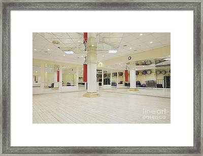 Spacious Gym Framed Print by Magomed Magomedagaev
