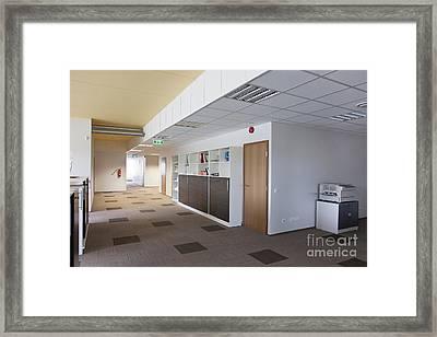 Spacious Office Hallway Framed Print