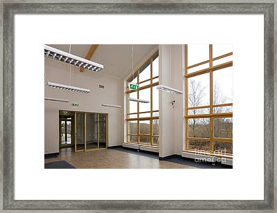 Spacious Room With Large Windows Framed Print by Jaak Nilson