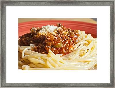 Spaghetti Bolognese Dish Framed Print by Andre Babiak