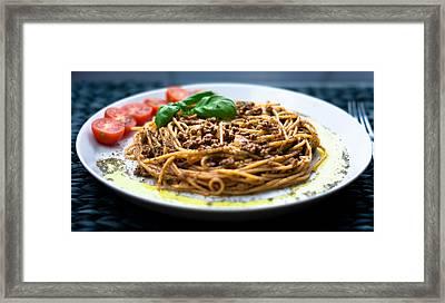 Spaghetti Bolognese Framed Print by Wojciech Wisniewski