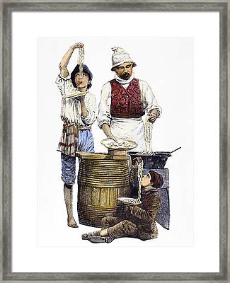 Spaghetti Vendor Framed Print