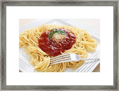 Spaghetti With Pomodoro Sauce Framed Print by Paul Cowan