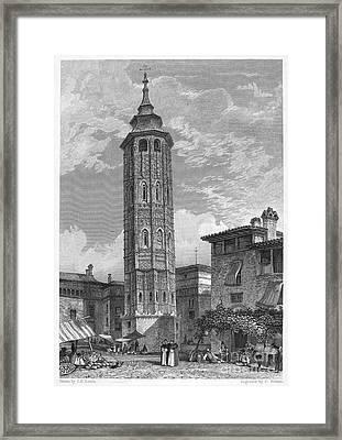 Spain: Saragossa, 1833 Framed Print by Granger