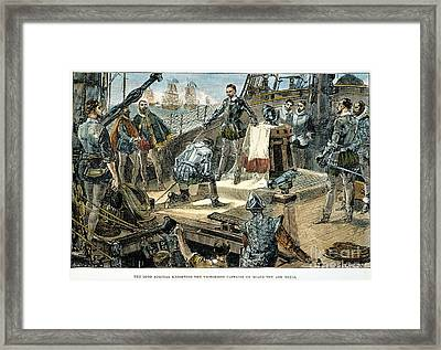 Spanish Armada Framed Print by Granger