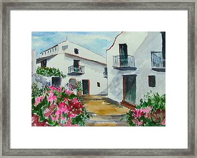 Spanish Balconies Framed Print