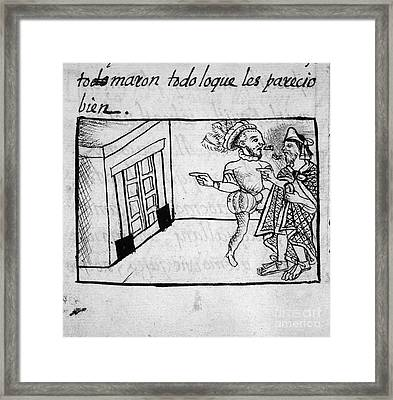 Spanish Conquest Framed Print by Granger