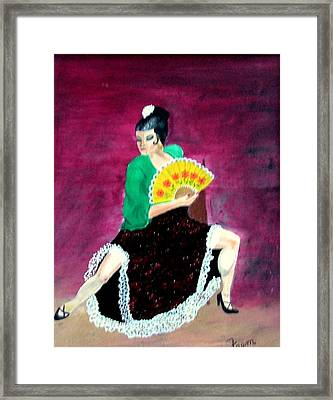 Spanish Dancer Framed Print