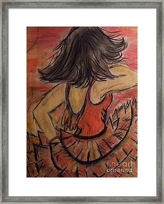 Framed Print featuring the painting Spanish Dancer by Lori  Lovetere