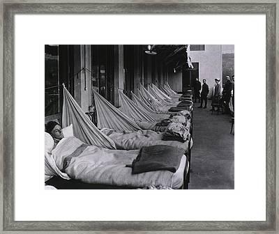 Spanish Flu Epidemic 1918-19. An Framed Print by Everett