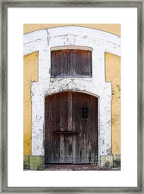 Spanish Fort Door Castillo San Felipe Del Morro San Juan Puerto Rico Prints Poster Edges Framed Print by Shawn O'Brien