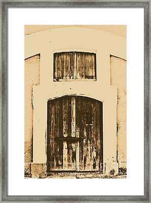 Spanish Fort Door Castillo San Felipe Del Morro San Juan Puerto Rico Prints Rustic Framed Print by Shawn O'Brien