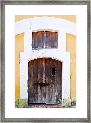 Spanish Fort Door Castillo San Felipe Del Morro San Juan Puerto Rico Prints Framed Print by Shawn O'Brien