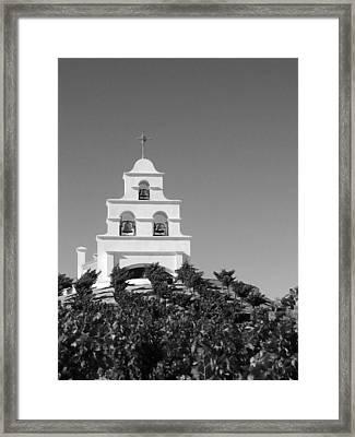 Spanish Mission In The Vineyards I Framed Print
