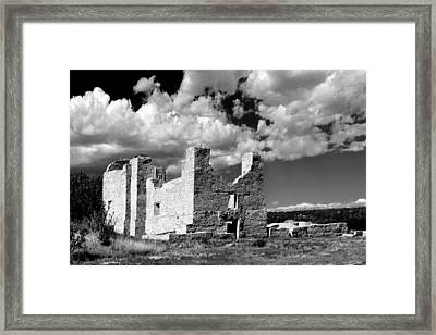 Spanish Mission Ruins Of Quarai Nm Framed Print by Christine Till