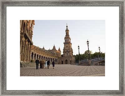 Spanish Senior Citizens On An Afternoon Framed Print by Krista Rossow