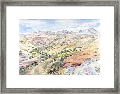 Spanish Sierra Framed Print by Maureen Carter
