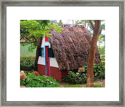 Spanish Thatched Cottage Framed Print