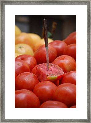 Spanish Tomatoes Framed Print by Dickon Thompson